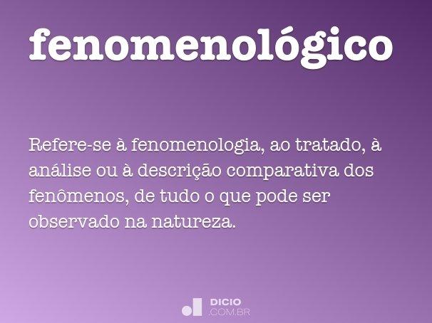fenomenol�gico