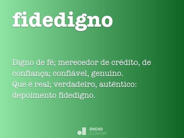 fidedigno