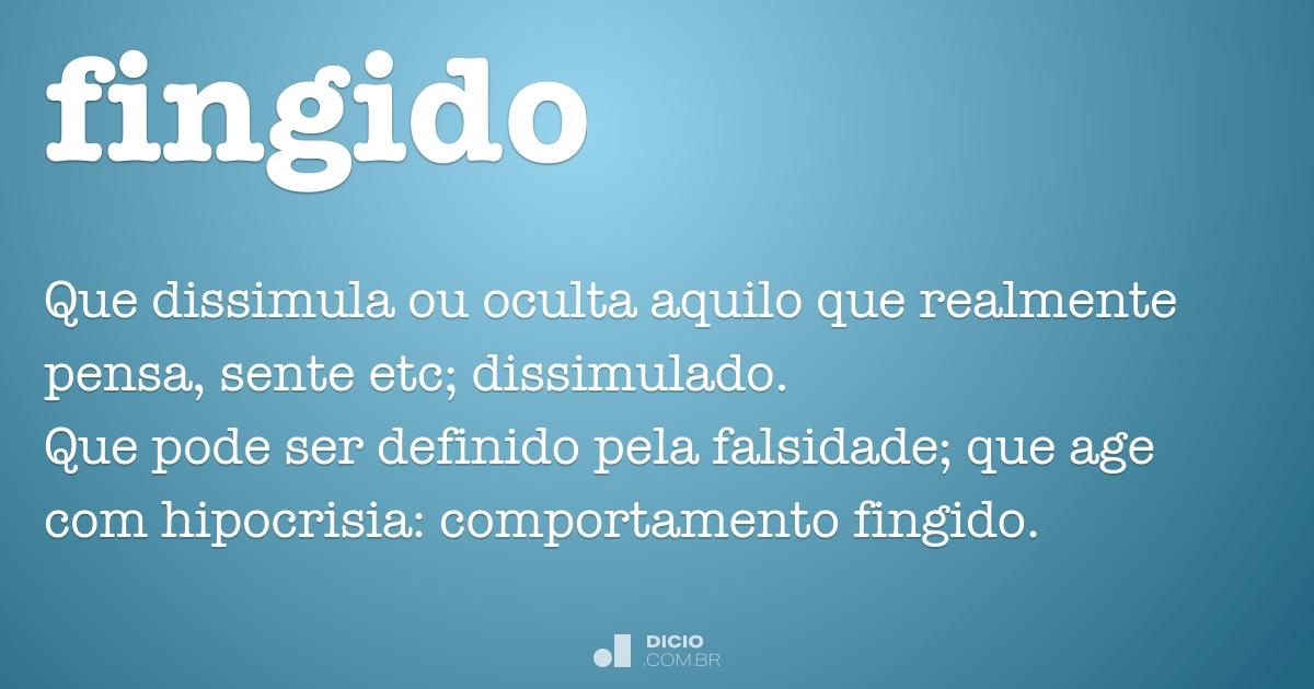 Fingido Dicio Dicionário Online De Português