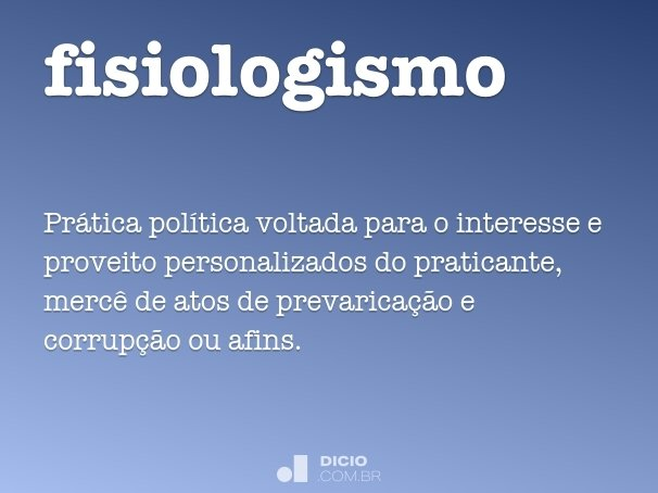 fisiologismo