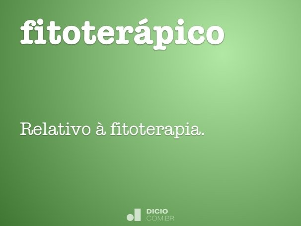fitoterápico