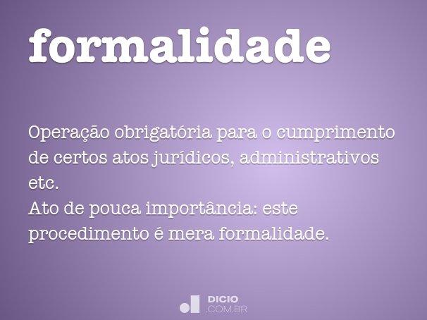 formalidade