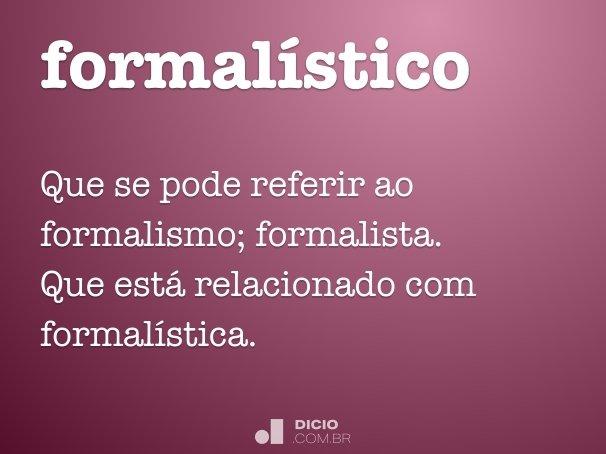 formalístico