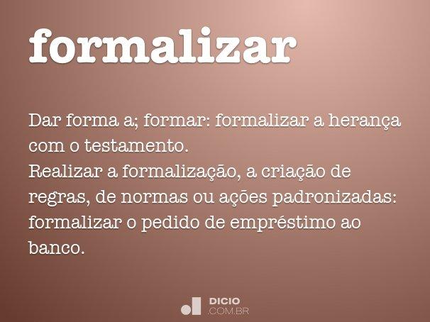 formalizar