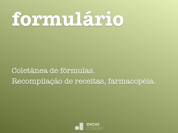 formul�rio