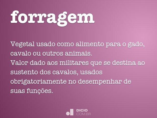 forragem