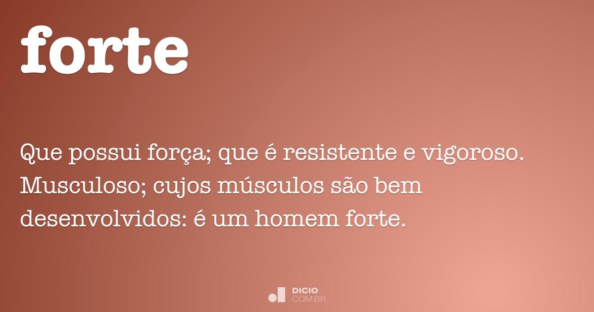 forte dicio dicionário online de português