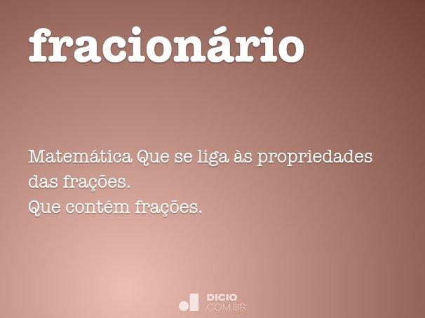 fracion�rio