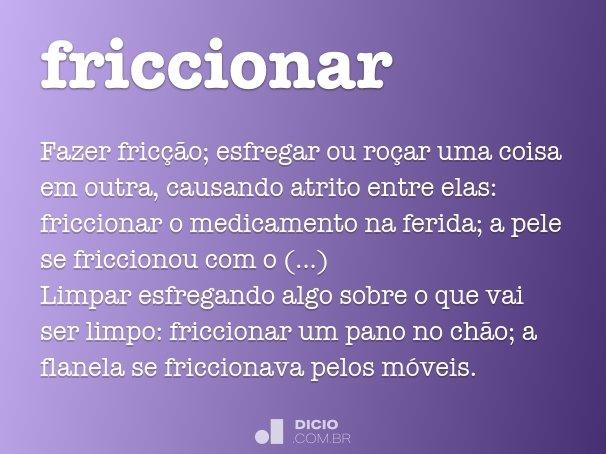 friccionar