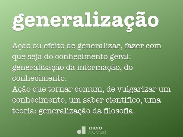 generaliza��o
