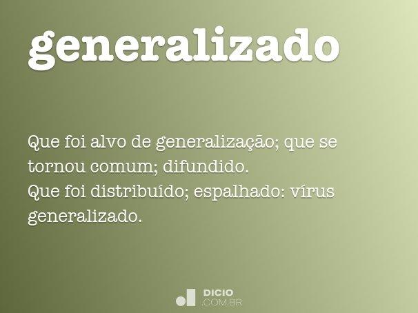 generalizado