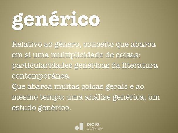 gen�rico