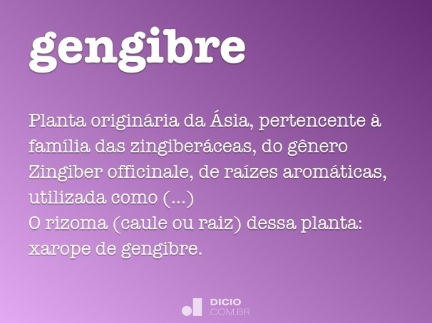 gengibre