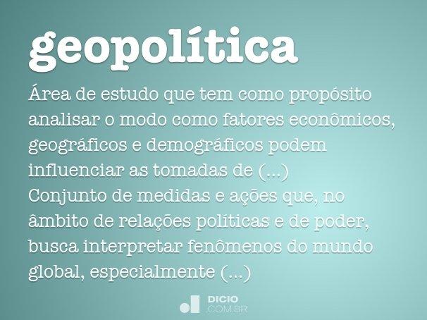 geopol�tica