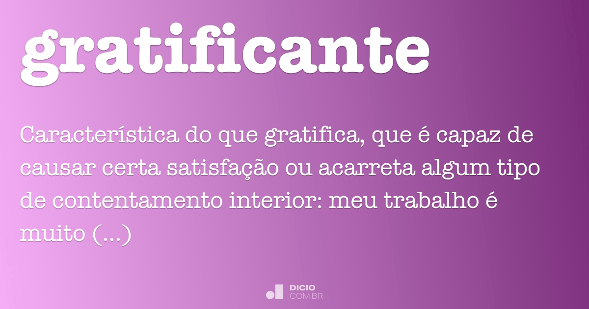 Gratificante In English