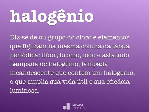 halogênio
