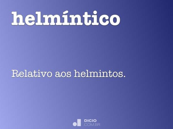 que significa helmintica