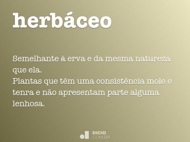 herbáceo