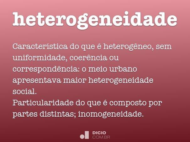 heterogeneidade