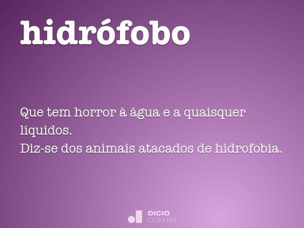 hidr�fobo