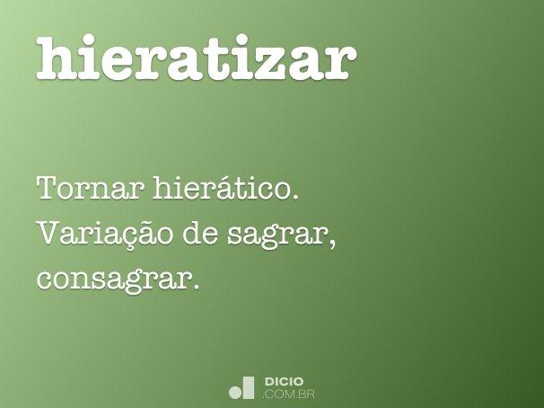 hieratizar