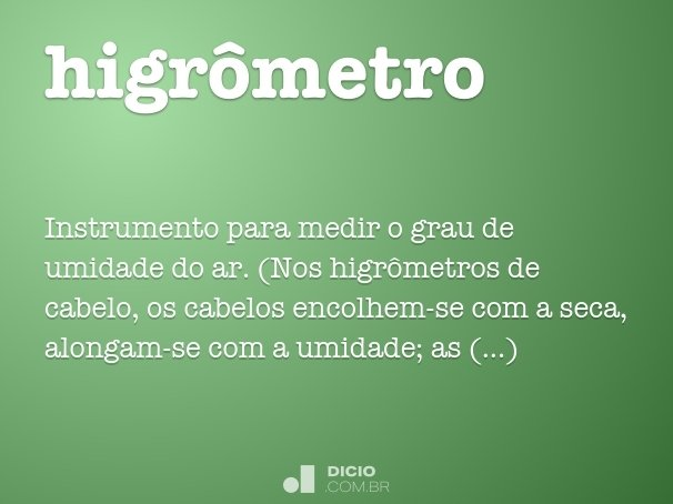 higrômetro