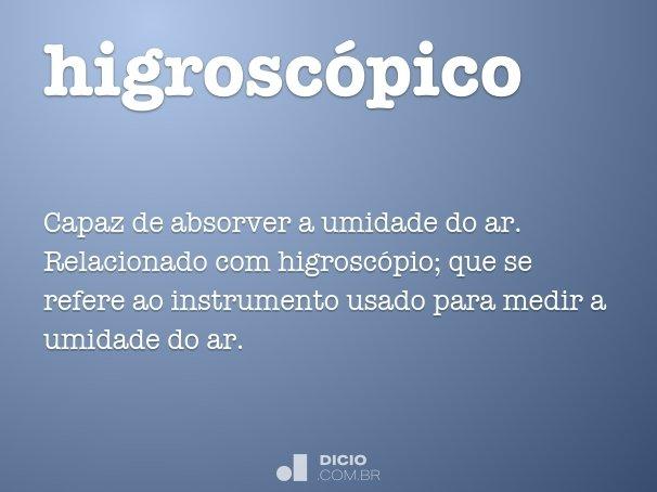 higrosc�pico