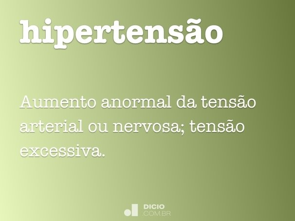 hipertens�o