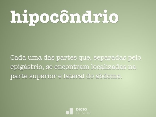 hipoc�ndrio