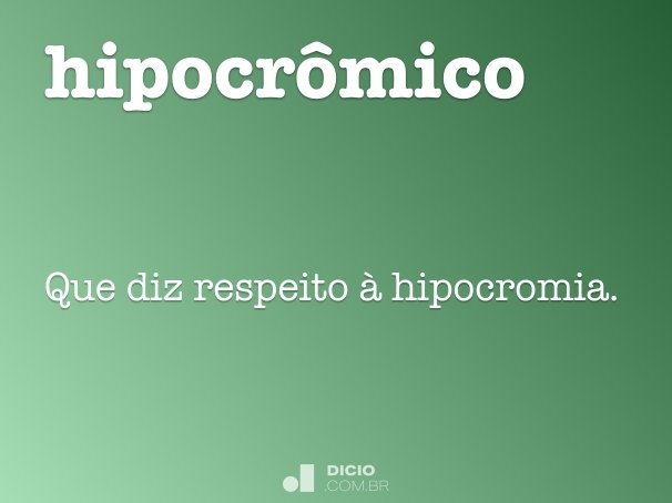 hipocr�mico