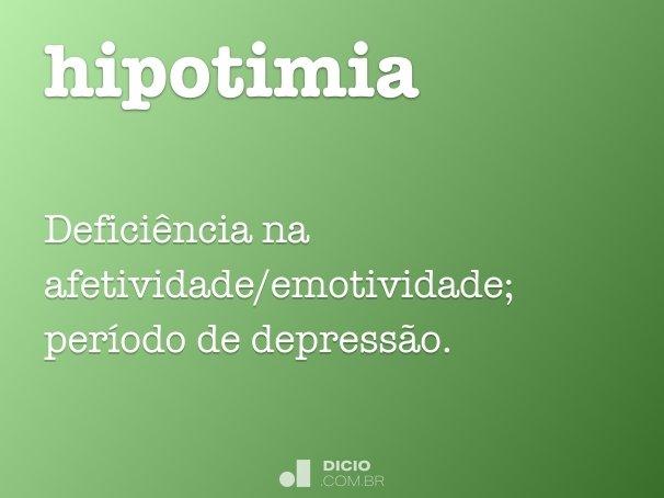 hipotimia