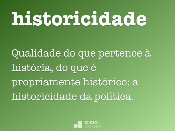 historicidade