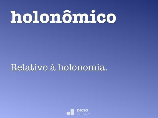 holonômico