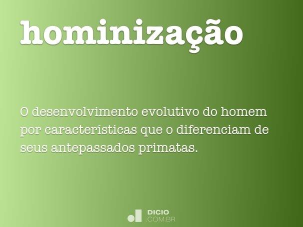 hominiza��o