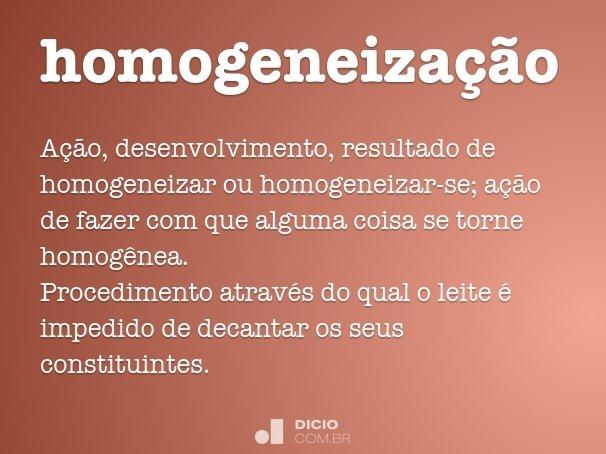 homogeneiza��o
