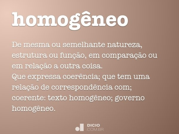 homogêneo