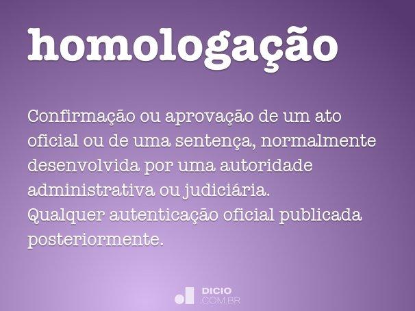homologação