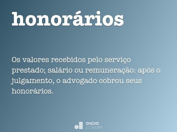 honor�rios