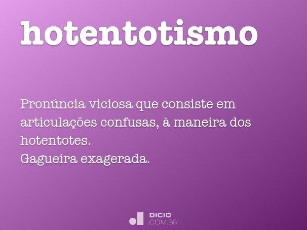hotentotismo