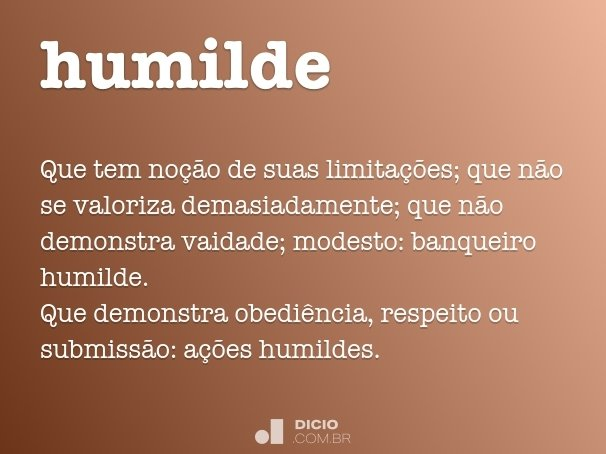 humilde