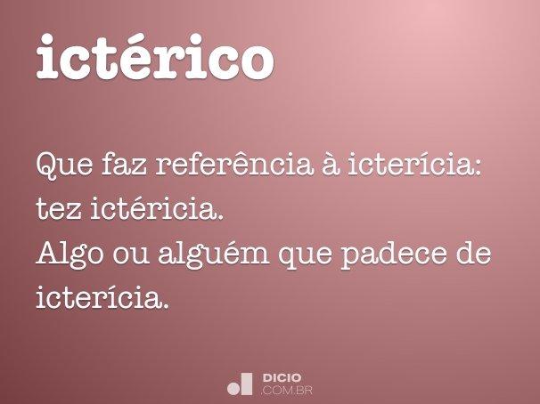 ictérico