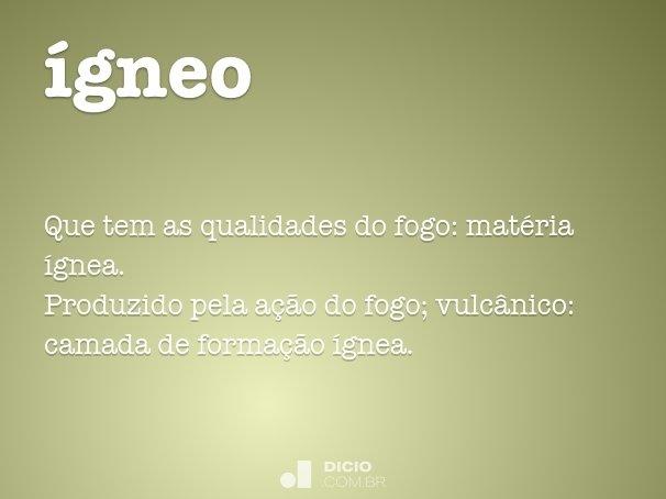 ígneo