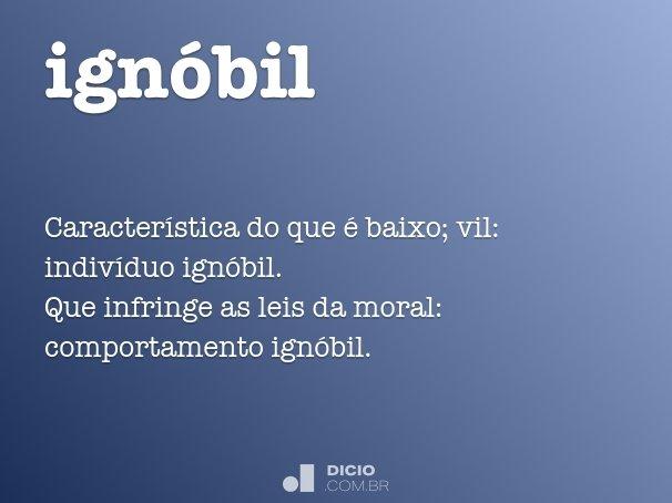 ignóbil