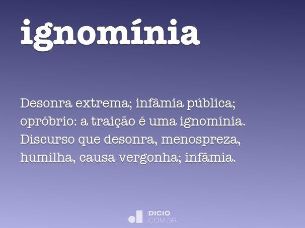 ignomínia