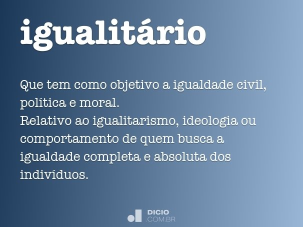 igualit�rio