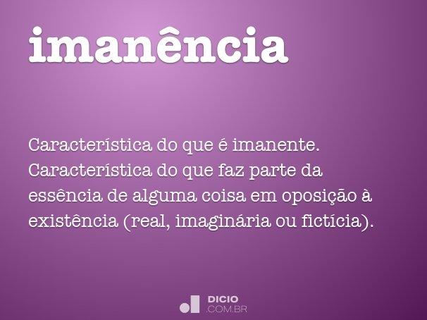 iman�ncia
