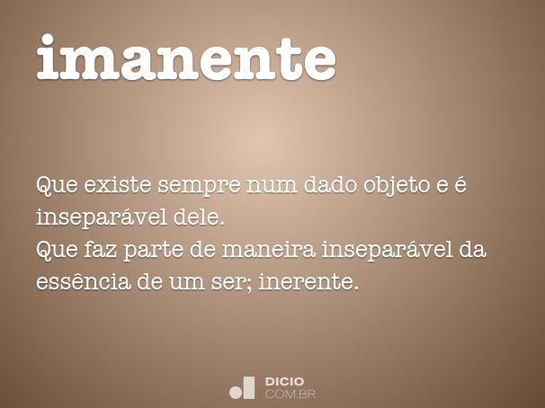 imanente