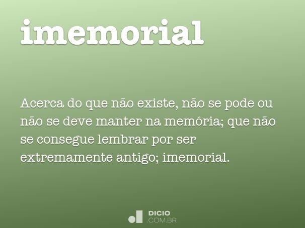 imemorial