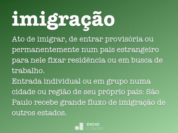 imigra��o