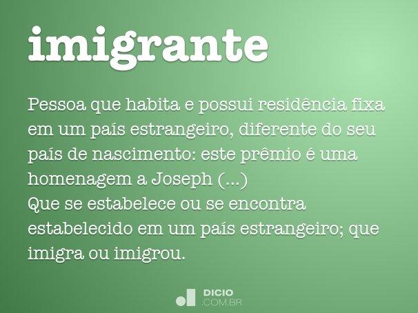 imigrante